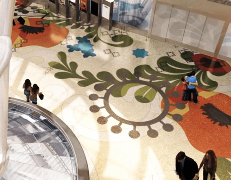 SalesForce Transit Center's terrazzo