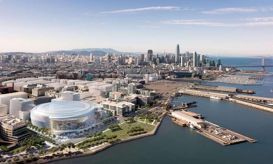 The finished arena in Mission Bay