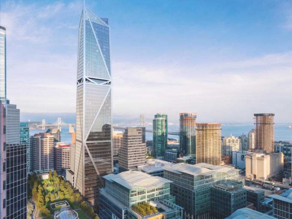 A rendering of the completed 181 Fremont in San Francisco