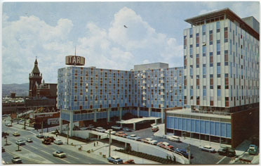 The old Jack Tar Hotel (renamed the Cathedral Hill Hotel)